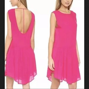 IRO Olivia Fuchsia T Back Drop Waist Dress Size 40